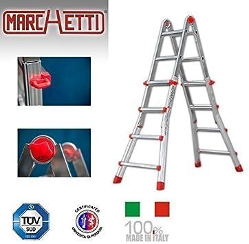Escalera telescópica de aluminio Easy Plus easy44 hasta 4 m extensible multifunción Escalera multiusos Escalera: Amazon.es: Bricolaje y herramientas