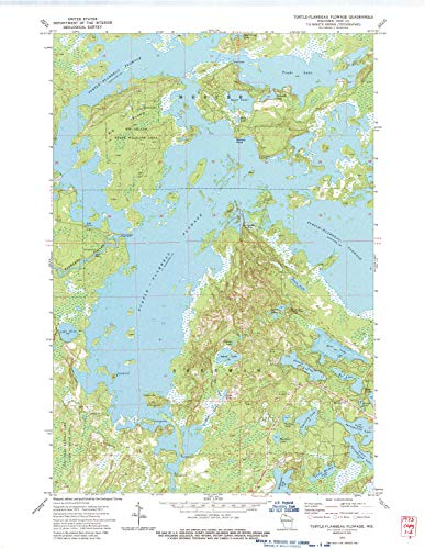 YellowMaps Turtle Flambeau Flowage WI topo map, 1:24000 Scale, 7.5 X 7.5 Minute, Historical, 1973, Updated 1989, 27.24 x 21.06 in - ()