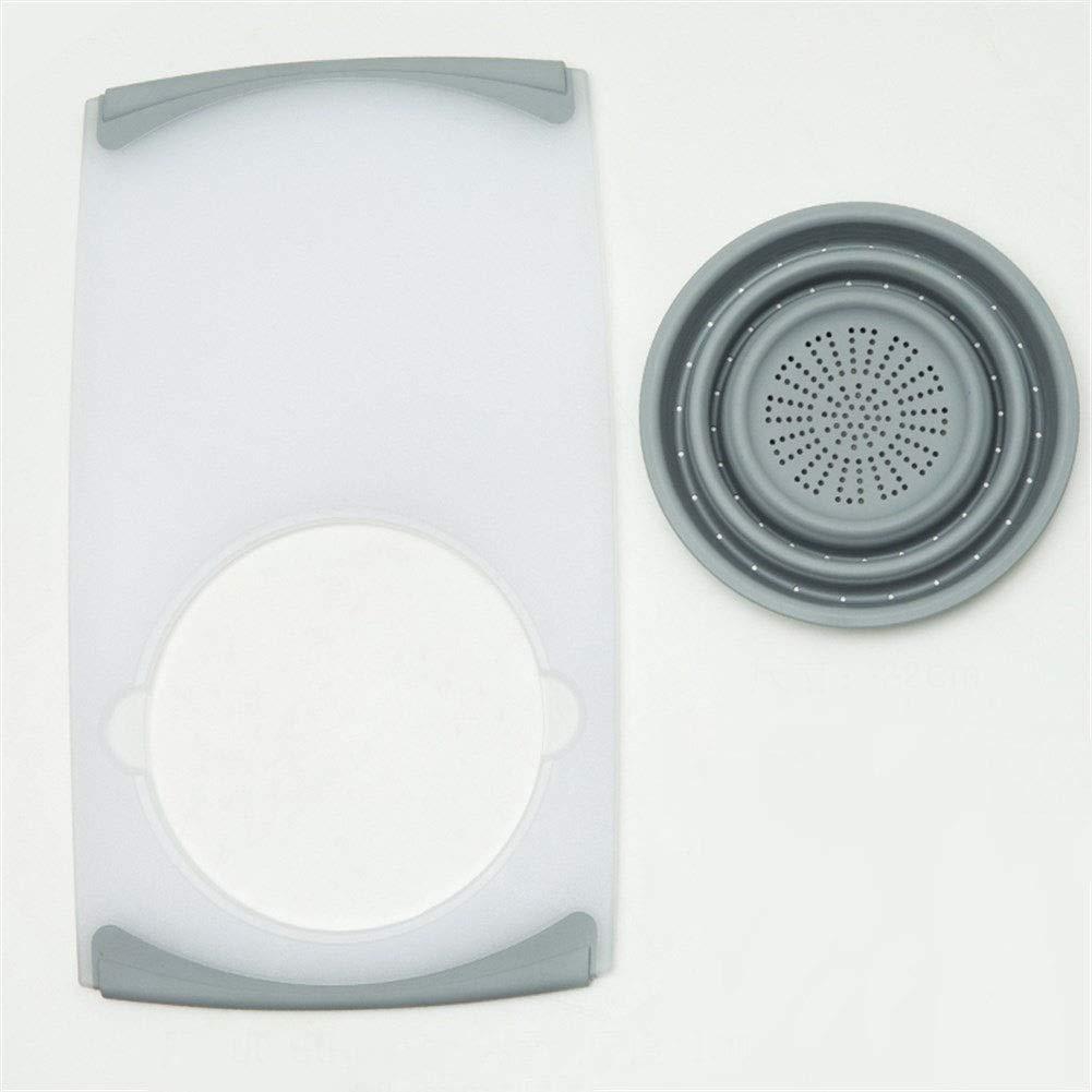 Kitchen Multi-Function Sink Cutting Board Household Drainage Basket Plastic Folding 50 28.5 22cm (Size : 5028.522cm) by Xiguan