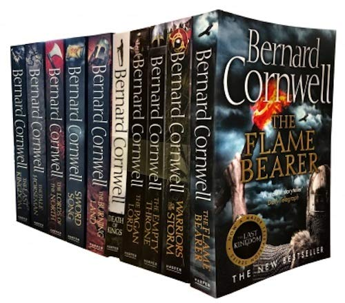 (Bernard Cornwell The Last Kingdom Series 10 Books Collection Set (The Last Kingdom, The Pale Horseman, The Lords of the North, Sword Song, The Burning Land, Death of Kings, The Pagan Lord...)