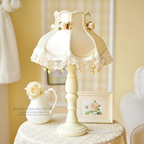 HYW Tischlampe-Europäischen Stil Tischlampe Schlafzimmer leuchtet minimalistischen zeitgenössischen Garten dekoriert Lampe,F