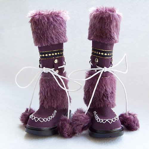 6 Colors to Choose / Boots with Plush Ball / for 1/3 SD BJD Doll / Outfit Dollfie / Wear in Autumn & Winter