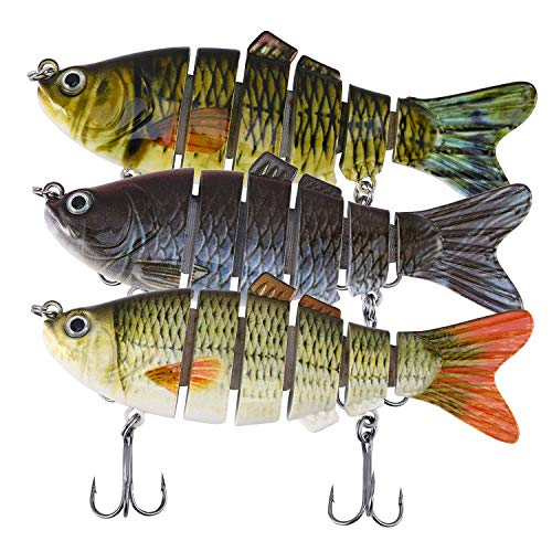 Magreel Swimbaits Lures Multi Jointed Fishing Swimbaits Slow Sinking Hard Lure Fishing Kit for Bass, Trout, Pike, Perch