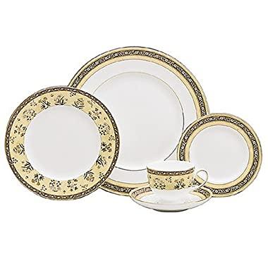 Wedgwood India 5-Piece Dinnerware Place Setting, Service for 1