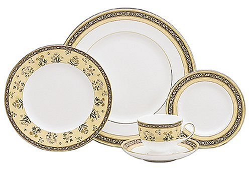 Wedgwood India 5-Piece Dinnerware Place Setting, Service for 1 5 Piece Place Setting Rim