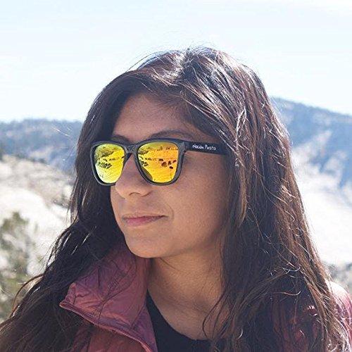 y Wayfarer Unisex Estilo Pirata Hombre Espejo Mujer Gafas de Polarizadas Ocaso Efecto naranja Sol Llamas y Nación Policarbonato aUO6qq4
