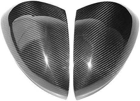 車のドアミラートリムリア、炭素繊維のリアビューサイドミラーカバートリムフィットジュリア