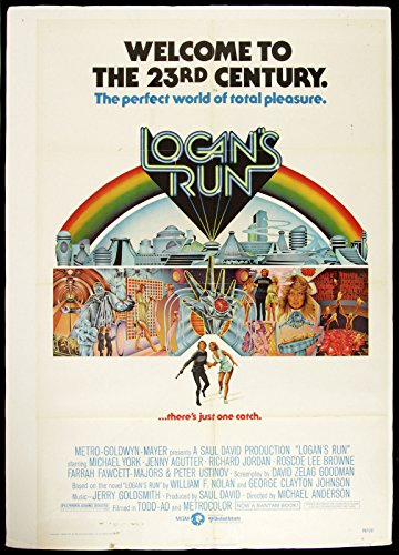 LOGAN'S RUN Movie POSTER RARE Blade Runner Indiana Jones 24x36inch (City Of Logan)