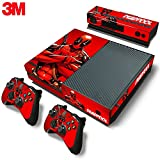 ZOOMHITSKINS Xbox One Console Skin Decal Sticker Deadpool + 2 Controller & Kinect Skins Set ...