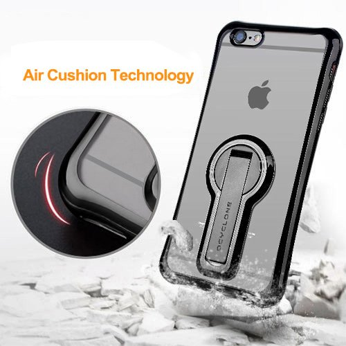 iPhone 6/ 6s Case with Kickstand, 360 degree Rotatable Stand Cute Plating Soft Full Body Covered Protective Phone Case For Girls, Women For Apple iPhone 6/ 6s - Black Photo #7