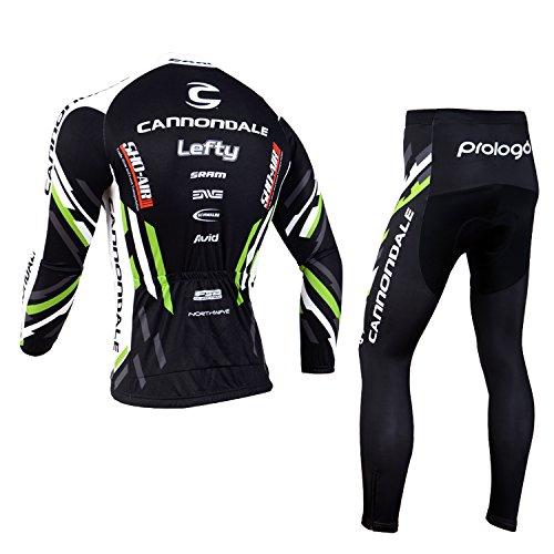 Ropa De Ciclismo para Hombres Deportes/Ropa De Ciclismo Otoñal/Trajes De Ciclismo Al Aire Libre Manga Larga Jersey + Pantalones Largos Transpirable De ...