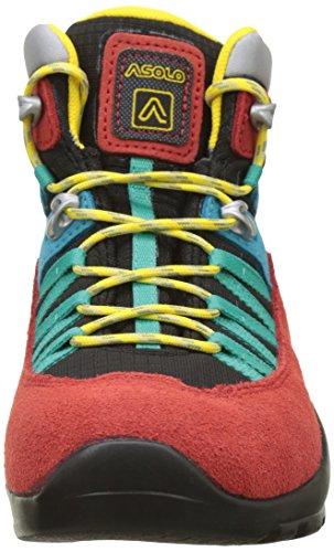 Asolo Dual Gv Jr, Zapatos de High Rise Senderismo Unisex Niños Rojo (Rosso/nero)