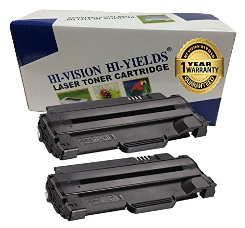 1135 Toner Cartridge (HI-VISION 2 Pack Compatible Dell 330-9523 (7H53W) High Yield Black Toner Cartridge Replacement for Dell 1130, 1130n , 1133 , 1135, 1135n)