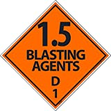 DL20ALV National Marker Dot Shipping Label, 1.5 Blasting Agent D, a, 4 Inches x 4 Inches, Ps Vinyl, 500/Roll