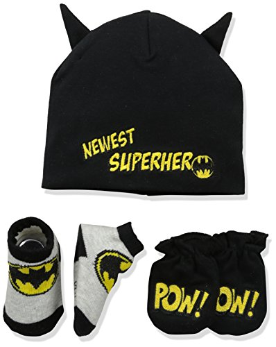 DC Comics Baby Boys Batman Take-Me-Home Set, black, 0-3 -
