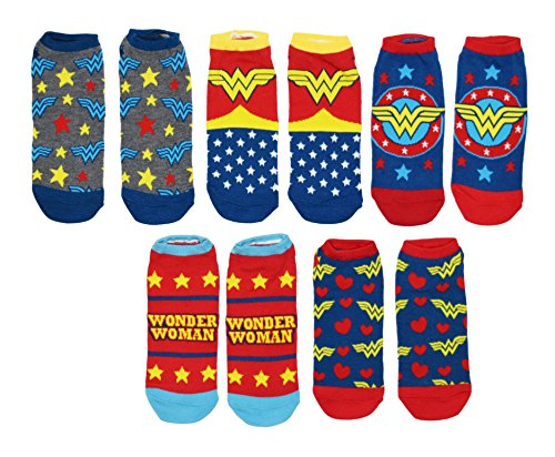 DC Comics Wonder Woman 5 Pack Ankle - Woman Wonder Scarf