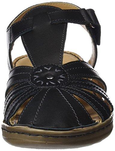 Scarpe Nero Sandalia Coronel negro Con Señora Donna 0 Negro Cinturino Tapioca 8A8qpI