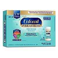 Enfamil Newborn PREMIUM Non-GMO Infant Formula 20 Calorie, Ready to Use, 2 Fl...
