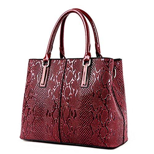 sac sacs sacs bandoulière dames serpent femmes à de tout à designer Red fourre printemps cuir main sac dames PU luxe en qPfwCF8tx