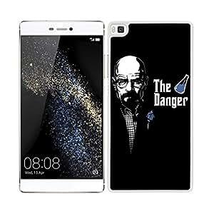 FUNDA CARCASA PARA Huawei P8 Lite DISEÑO HEISENBERG BREAKING BAD 3 BORDE BLANCO
