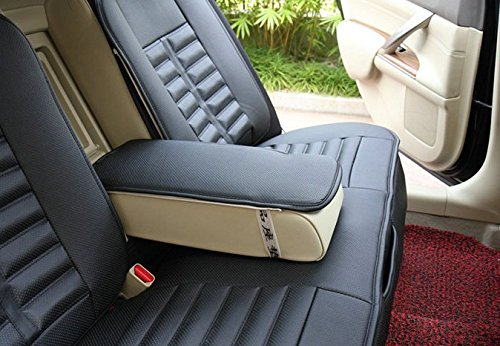 amooca vti universal full set needlework pu leather front rear car seat cushion cover black pcs