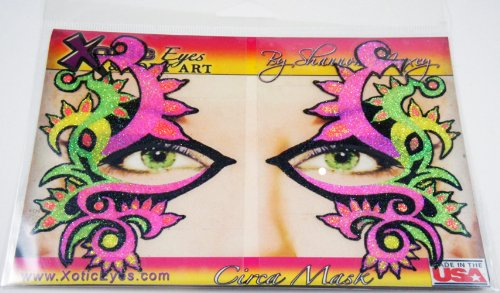 Xotic Eyes Neon Mardi Gras Glitter Professional Eye Make up Costume (Mardi Gras Costume Makeup)