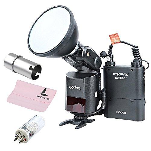 Godox Witstro AD360II-N TTL 360W GN80 2.4G Wireless Powerful X System Speedlite Flash Light + PB960 Battery + Blub Cover + Bare Bulb 360W Tube Flash for Nikon Camera (AD360IIN-B+ 360w Tube+AD-S15)