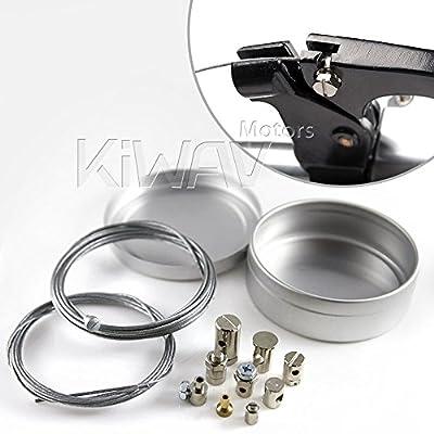 KiWAV Universal Throttle Clutch Brake parking brake Cable End Repair Travel Emergency Repair Kit Motorcycle bicycle ATV: Automotive