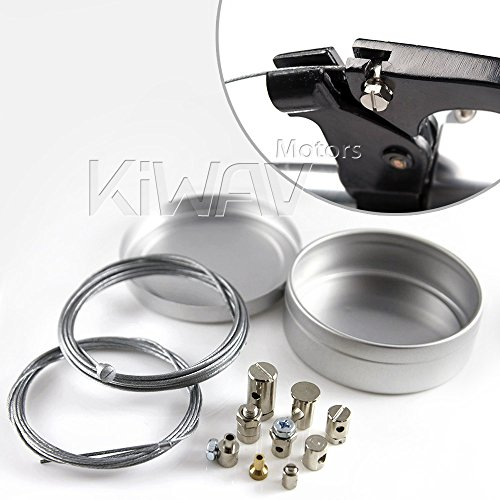 KiWAV Universal Throttle Clutch Cable Repair Travel Emergency Repair Kit Motorcycle Dirtbike ATV