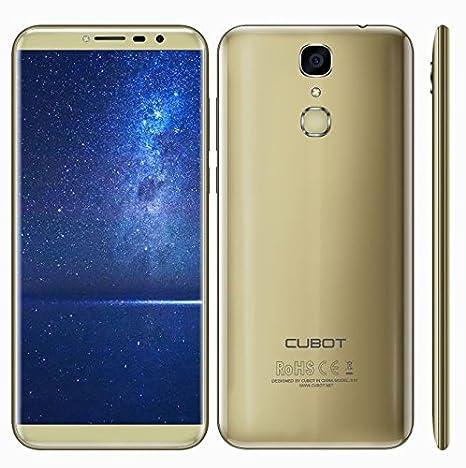 Cubot X18 Gold - Smartphone (13MP + 16MP Dual Kamera, Quad Core 3GB RAM 32GB ROM, Fingerabdruck 3200mAh - Gold)