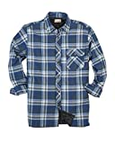 Backpacker Men's Flannel/Quilt Lined Shirt Jacket, Blue/Green, XX-Large
