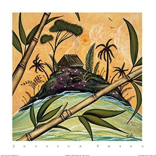 South Seas Hut I by Jessica Fries 7 X 5 Poster (South Seas Hut)