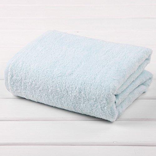 The new no-twist yarn towel adult men, the children's bath towels bath towel B Blue by TDLC
