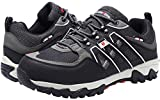 LARNMERN Work Shoes for Men, LM-18 Men's Steel Toe Safety Shoes Breathable Comfortable Footwear Industrial and Construction Boots (11 D(M) US, Black/Grey)