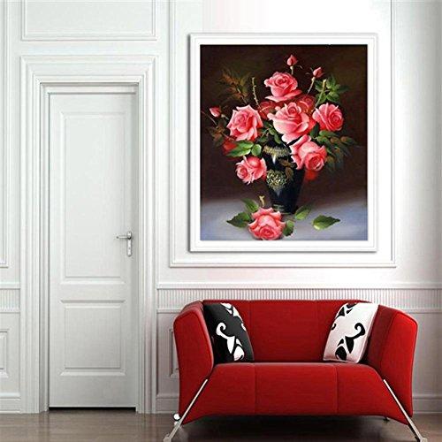Alloet 5D Rose Fower DI Diamond Painting Cross Stitch Embroi
