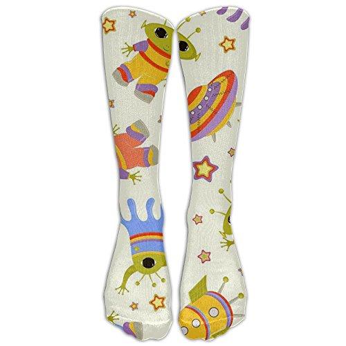 NEW Space Shuttle, Alien, Flying Saucers Athletic Tube Stockings Women's Men's Classics Knee High Socks Sport Long Sock One Size ()
