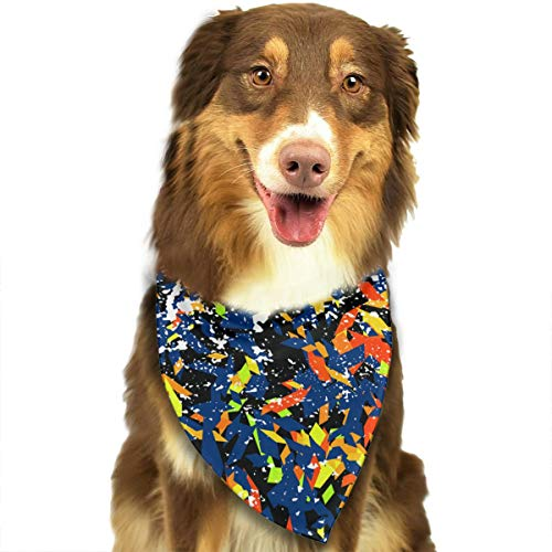 ANYWN Pet Dog Bandanas Triangle Bibs Scarfs Modern Art Accessories for Puppies Cats Pets Animals Large Size]()