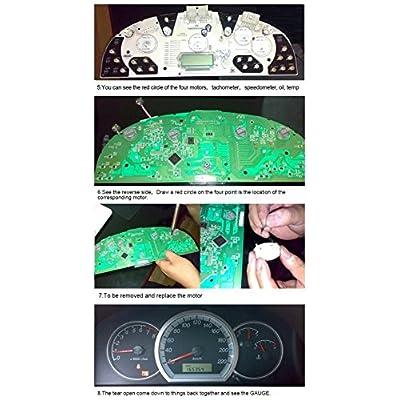 Dr.Roc Replacement for Instrument Cluster Gauge Stepper Motor Repair Kit Fits X27 168 03 to 06 GM GMC Sierra Yukon Chevy Silverado Tahoe Trailblazer with 7 Stepper Motors Soldering Iron Solder Sucker: Automotive