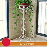 AIDELAI flower rack Pastoral European Style Creative Metal Flower Racks Indoor And Outdoor Living Room Balcony Decoration Single Layer Flower Pot Rack Patio Garden Pergolas (Color : #8)