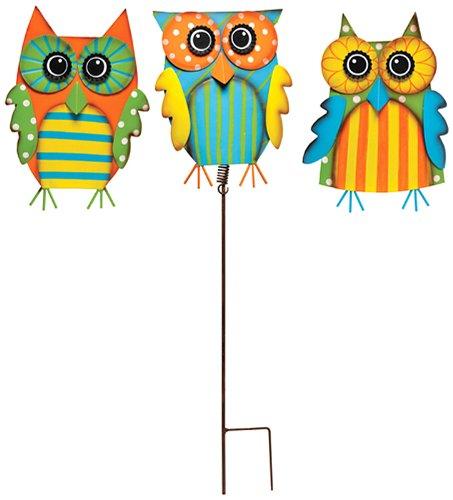 Superb Amazon.com: Caffco International Multi Color Owl Garden Stakes, Set Of 3:  Garden U0026 Outdoor