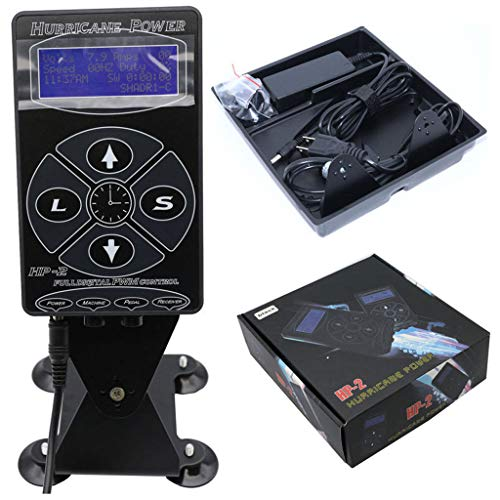 - Tattoo Power Hurricane Digital Set Universal LCD Display Unit Pad Shader