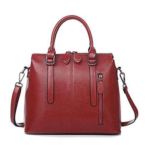 Mujeres Nuevo Estilo PU moda Moda Alto Grado Temperamento Color Sólido Solo Bolso De Hombro Bolso Bolso De Hombro Inclinado Red