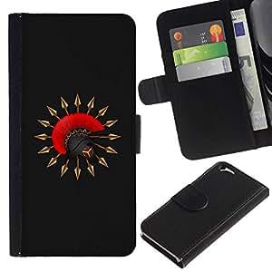 All Phone Most Case / Oferta Especial Cáscara Funda de cuero Monedero Cubierta de proteccion Caso / Wallet Case for Apple Iphone 6 // Sparta Warrior Helmet