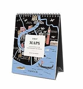 Rifle Paper Co 2017 Desk Calendar (Maps)