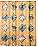 Bass Fishing Shower Curtain Bass Hooked Polyester Shower Curtain