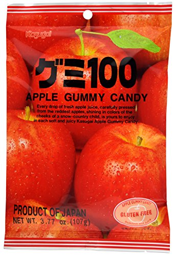 Kasugai Apple Gummy Candy 3.77oz (3 Pack)