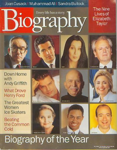 Biography Magazine January 2000 - Joan Cusack, Henry Ford, JFK Jr., Alan Greenspan, Cher
