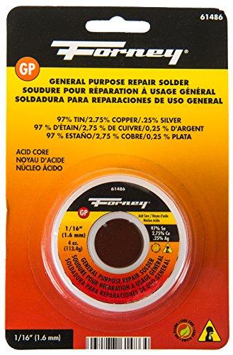 Forney 61486 Lead Free Acid Solder, 1/16