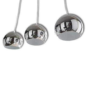 Design Hängelampe Esszimmer Pendelleuchte Küchen Textilschirm schwarz silber