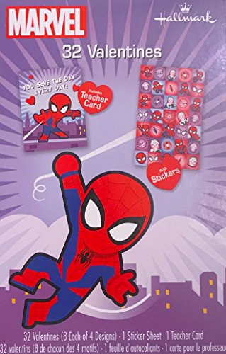 NEW Hallmark Children's Valentine Day Cards Classroom Exchange (Spiderman)
